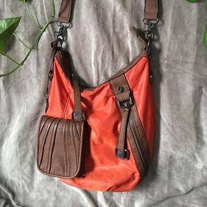 Hilary Radley Orange Crossbody Shoulder Bag Purse
